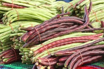 Long bean at market