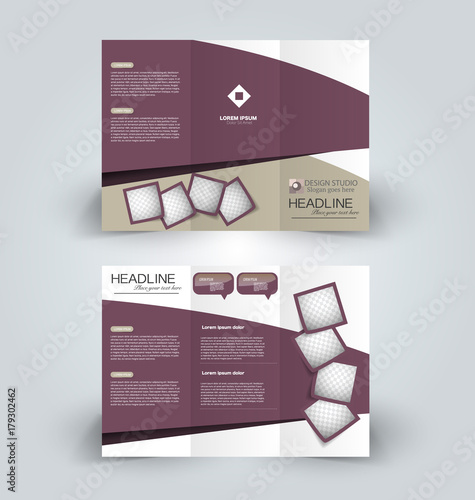 brochure template business trifold flyer creative design trend for