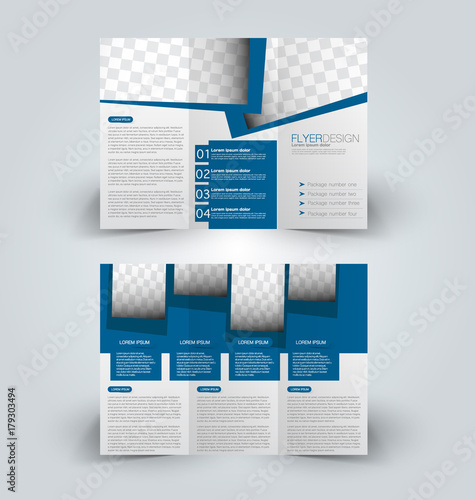 graphic regarding Printable Tri Fold Brochures called Brochure mock up style and design template for office, education and learning
