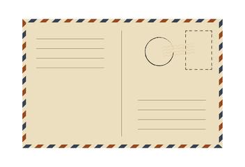 Postcard. Vintage template. Vector illustration.