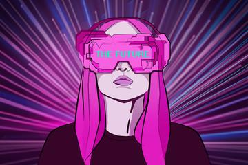 Virtual reality and digital concept