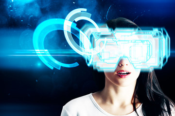 Cyberspace and emotion concept