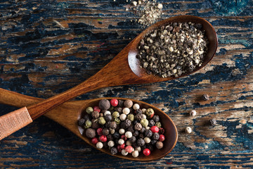 Ground Pepper and Peppercorns