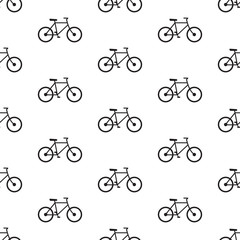 bicycle seamless pattern black