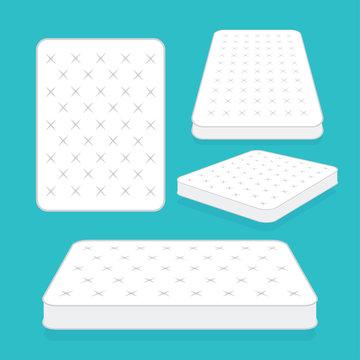 Comfortable double mattress for sleeping. vector illustration