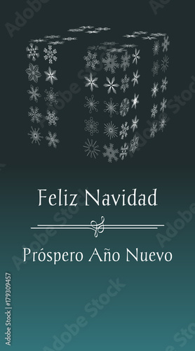 Spanish christmas greeting card with text merry christmas and happy spanish christmas greeting card with text merry christmas and happy new year vertical spain holiday m4hsunfo