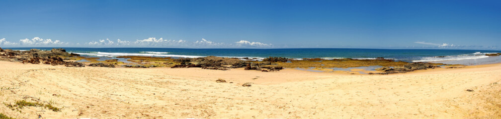 Itapua beach - Panoramic photo of Itapua beach, Salvador, Bahia, Brazil