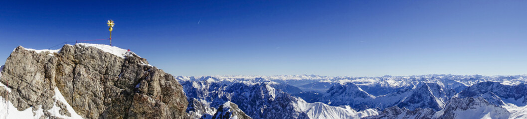 View from the Zugspitze, Germany, Bavaria Wall mural