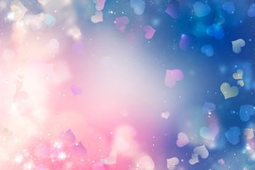 Blurred valentine background.