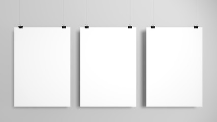 Three poster mockup set