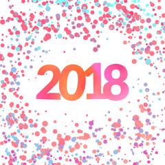Bright colorful New Year confetti background