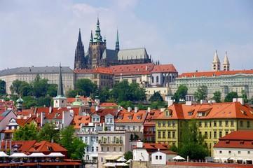 Praga - widok od strony Wełtawy