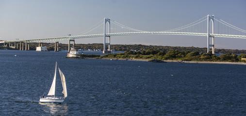 Newport-Brücke von Newport in den USA.