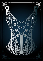 Graphic illustration with lace underwear 17
