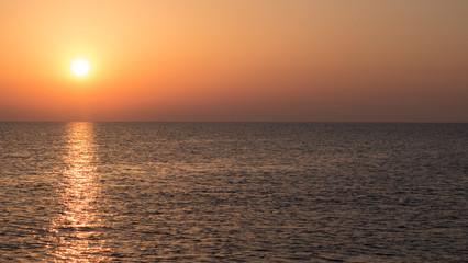 Fototapete - Abendstimmung auf See