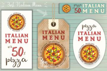 Italian Pizza Stickers Set