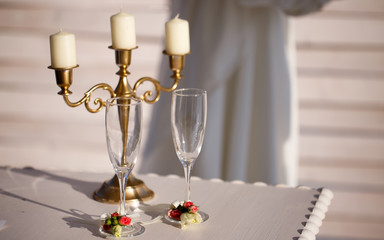 bokal? champagne for the wedding ceremony