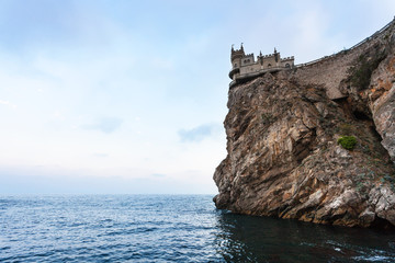 Swallow Nest Castle on Aurora Cliff in evening