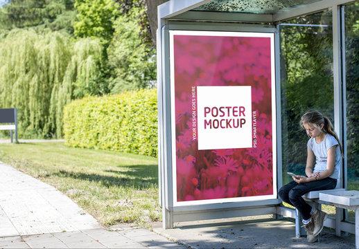Outdoor Kiosk Advertisement Mockup 9