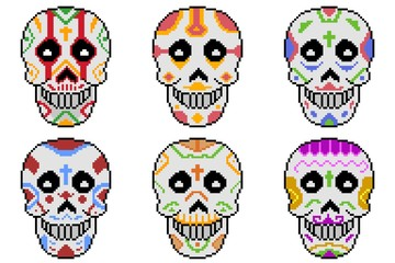 skulls day of death Mexico