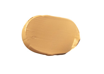 Makeup foundation blur cream white isolated background