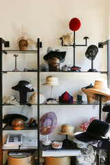 Hats in retail store