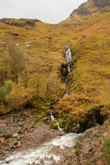 Waterfall in the Scotland Highlands