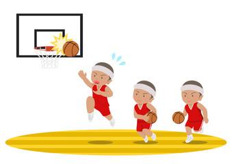 バスケットボール レイアップシュート 失敗 黒人