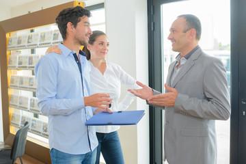 conversation with a broker