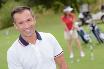 Portrait of male golfer