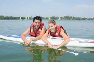 couple going paddling