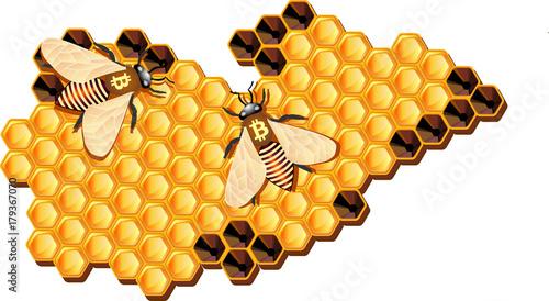 Resultado de imagem para bees blockchain