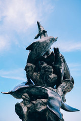 Fantasy Dolphins Statue