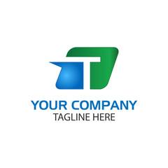 Creative Letter T in rectangular