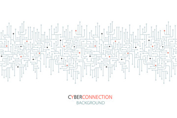 Cyber connection electronic circuit background.  Spu. Circuit lines design vector illustration