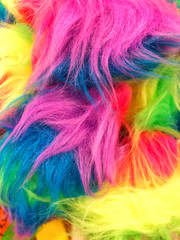 Fluffy pile of colorful and soft looking fur