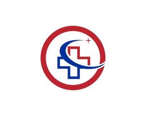 Medical health logo design template
