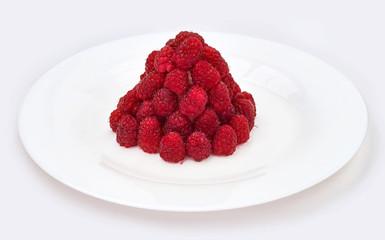 dessert with raspberries