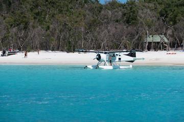 parkendes Wasserflugzeug