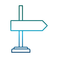 road sign icon over white background vector illustration