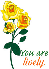 rosa gialla significato in inglese