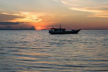 Sunset on Nunukan island, Maratua, Kalimantan, Borneo, Indonesia