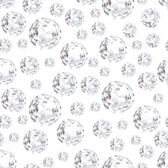 Modern background with diamonds. Seamless pattern with sparkling precious gems.