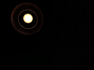 round Ceiling light on dark background