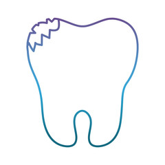 broken tooth icon over white background vector illustration