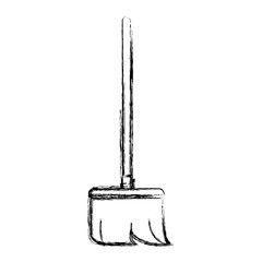 figure broom sweep equipment to clean house