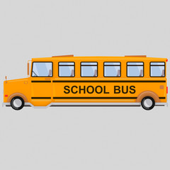 School Bus . Isolate. Easy background remove. Easy combine! For custom illustration contact me.