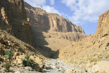 Bare Atlas mountain in Morocco