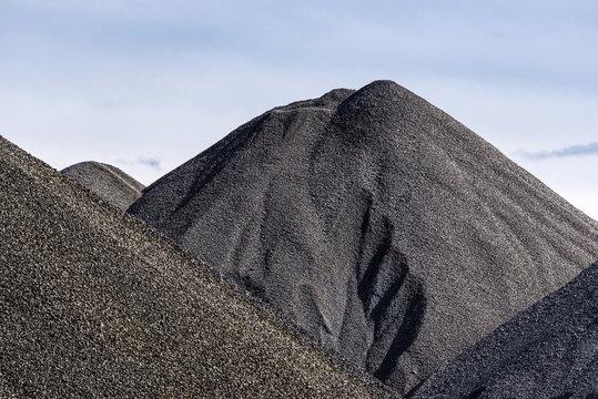 Stockpile of raw coal.