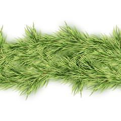 Christmas seamless garland of fir branches. EPS 10 vector